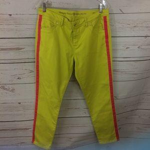 Ladies Neon Green Simply Vera Pants